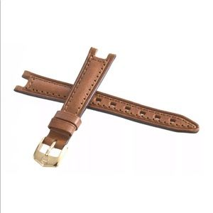 TAG Heuer SEL Brown Leather Gold Buckle Watch Band